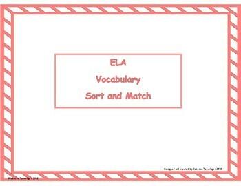 ELA Vocabulary Sort and Match