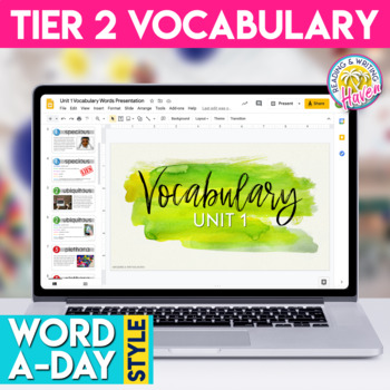 ELA Vocabulary Unit 1: Word List, Word Wall, Assessment, and Vocab Template
