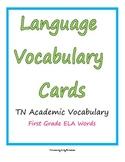 ELA Vocabulary Word Cards grade 1
