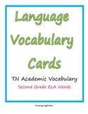 ELA Vocabulary Word Cards grade 2