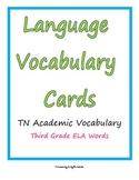 ELA Vocabulary Word Cards grade 3