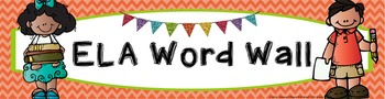 ELA Word Wall Vocabulary Banner - Chevron