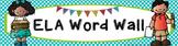 ELA Word Wall Vocabulary Banner - Polka Dots