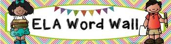 ELA Word Wall Vocabulary Banner - Rainbow