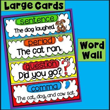 ELA Vocabulary Word Wall and Tracing (sight words, writing)