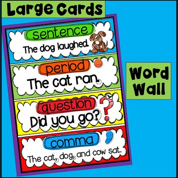 ELA Vocabulary Word Wall and Tracing (sight words, writing)