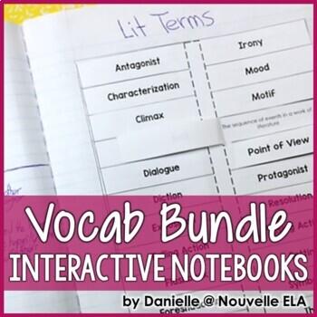 ELA Vocabulary for Interactive Notebooks