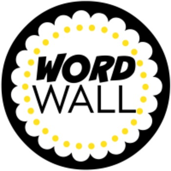 ELA WORD WALL LETTERS - YELLOW AND BLACK