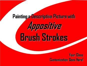 ELA WRITING: Appositive BRUSH STROKE #6 Advanced & Varied Sentence Structure