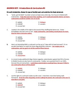 ELA WRITING Introductions & Conclusions Worksheet #3