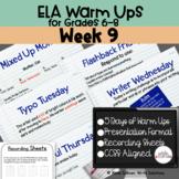 ELA Warm Ups Middle School Week 9 Google Slides