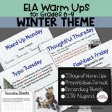 ELA Warm Ups Winter Theme Week
