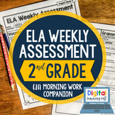 ELA Weekly Assessments {2nd Grade} I Distance Learning I G