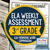 ELA Weekly Assessments {3rd Grade}