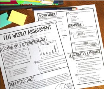 ELA Weekly Assessments {3rd Grade}