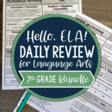 ELA Daily Review 7th Grade I Distance Learning I Google Slides and Forms