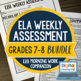 ELA Weekly Assessments 7th-8th Grade Bundle I Distance Learning I Google Forms