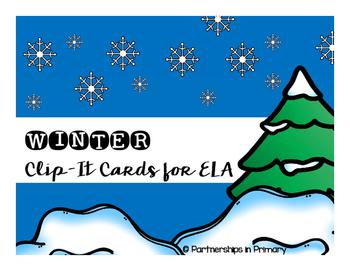 ELA Winter Clip-It Cards