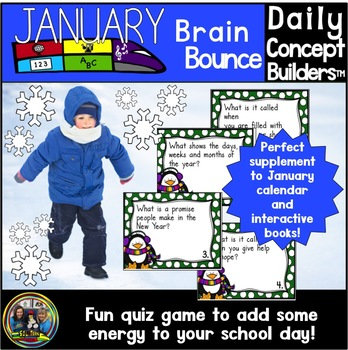 January Word of the Day Vocabulary Brain Bounce Game