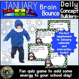January Activities-Brain Bounce Vocabulary Game