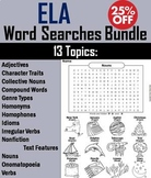 ELA Word Search Bundle: Reading Strategies, Vocabulary, Grammar