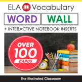 Illustrated ELA Word Wall and Interactive Notebook Inserts