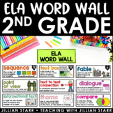 ELA Word Wall 2nd Grade (Common Core Aligned)