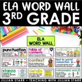 ELA Word Wall 3rd Grade (Common Core Aligned)