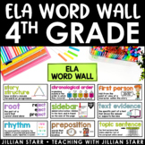 ELA Word Wall 4th Grade (Common Core Aligned)