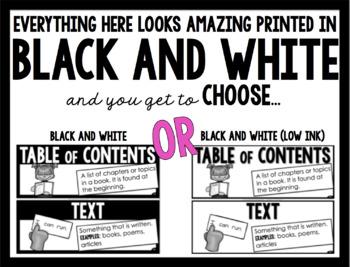 ELA Word Wall *BLACK AND WHITE* (1st Grade)