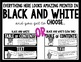 ELA Word Wall *BLACK AND WHITE* (Kindergarten)