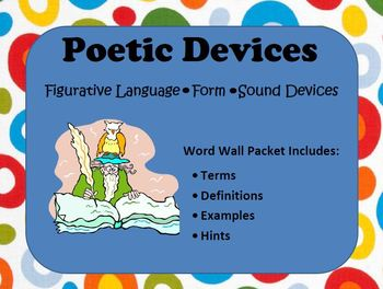 ELA Word Wall Bundle: Plot, Poetry, Rhetoric, Logic, Thinking, Foreign Words