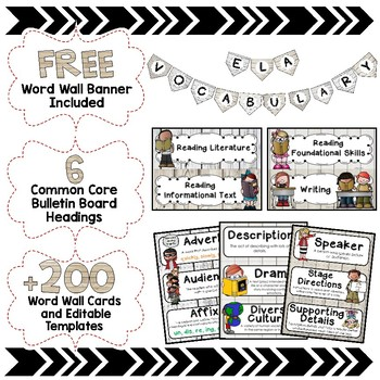 ELA Word Wall Editable - 4th Grade - Shiplap