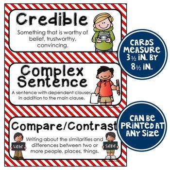 ELA Word Wall Vocabulary Cards - 5th Grade - Nautical
