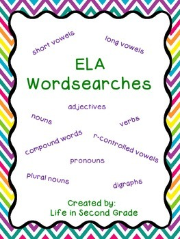 ELA Wordsearches