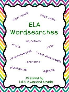 ELA Wordsearches