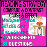 ELA Worksheets | Reading Strategies | Cause & Effect | Compare & Contrast | Gr3