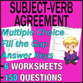 ELA Worksheets   Subject Verb Agreement   Grammar Question