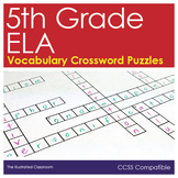 5th Grade ELA Worksheets Vocabulary Crossword Puzzles