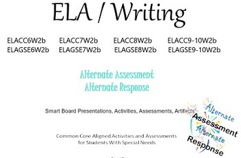 ELA Writing Alternate Assessments for Special Education Autism