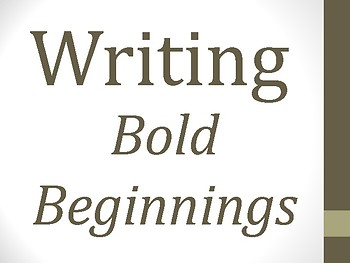ELA Writing Bold Beginnings - for ELLs, SPED (pictures included)