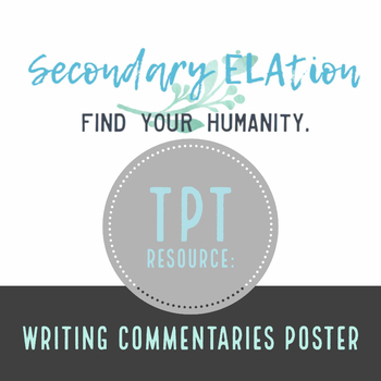 ELA Writing Commentaries Poster