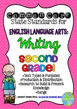 Common Core ELA Writing Posters 2nd grade