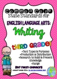 Common Core ELA Writing Standards Posters 3rd grade