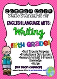 Common Core ELA Writing Standards Posters 5th grade