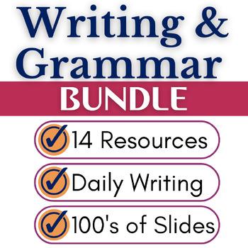 Writing and Grammar Activities Growing Bundle, Middle School & High School ELA