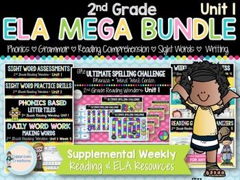 ELA Year Long MEGA BUNDLE 2nd Grade