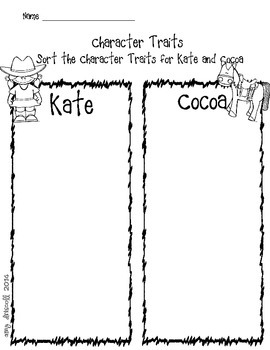 ELA activities for Cowgirl Kate and Cocoa