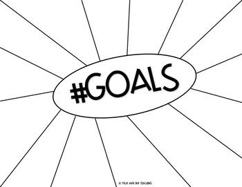 ELA and Goal Setting Sketchnote Template {Grades 7-12}