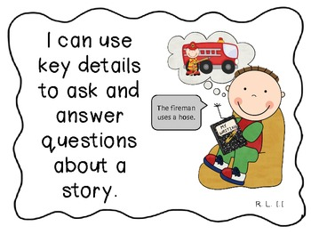 """ELA and Math Common Core """"I can"""" Statements for First Grade"""